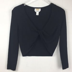 Talbots cropped Twist front sweater Sz Small
